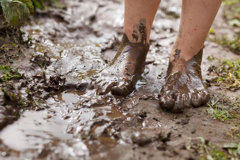 Шел по грязи